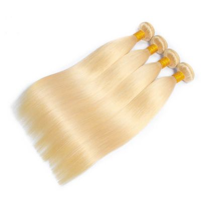 H&F 613 Blonde Straight Human Hair 4 bundles