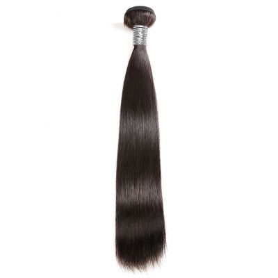 H&F 10A Straight Virgin Human Hair 1 Bundle Natural Black