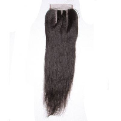 H&F Straight Virgin Human Hair 4x4 Lace Closure