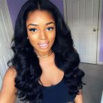 H&F 10A Virgin Human Hair Body Wave 2 Bundles With 13X4 Lace Frontal Free Part Natural Black