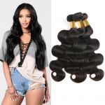 H&F 8A Virgin Human Hair Body Wave 3 Bundles Natural Black