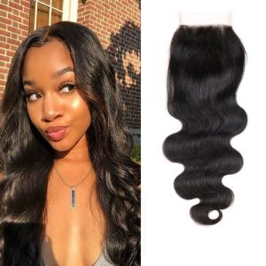 H&F Virgin Human Hair Body Wave 4x4 Lace Closure