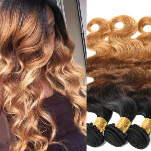 H&F 8A Ombre Hair Body Wave 3 bundles 1b/4/27