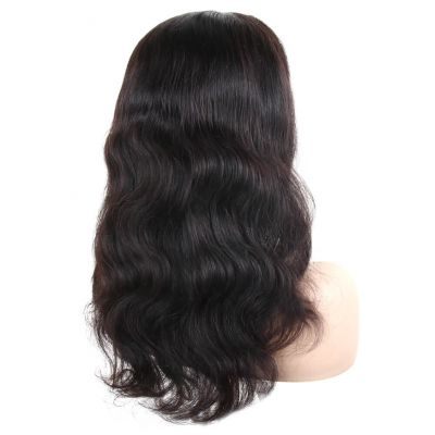 H&F 360 Lace Front Virgin Human Hair Body Wave Wig Natural Color