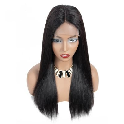 H&F Lace Front Straight Virgin Human Hair Wig Natural Color