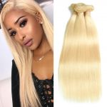 H&F 613 Blonde Straight Human Hair 3 bundles