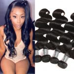 H&F 10A Virgin Human Hair Body Wave 4 Bundles Natural Black