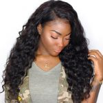 H&F 10A Virgin Human Hair Deep Wave 3 Bundles Natural Black