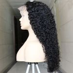 H&F Lace Front Curly Virgin Human Hair Wig Natural Color